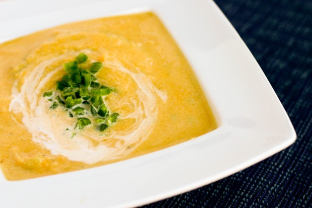 Butternut Squash and Jalapeno Soup