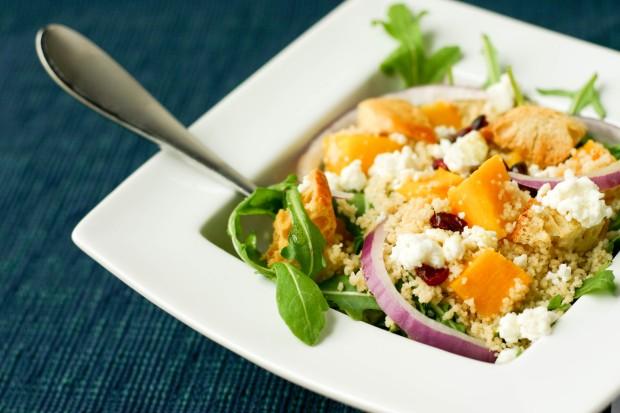 Pumpkin and Couscous Rocket Salad