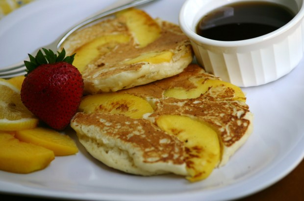 Peach and Ricotta Pancakes