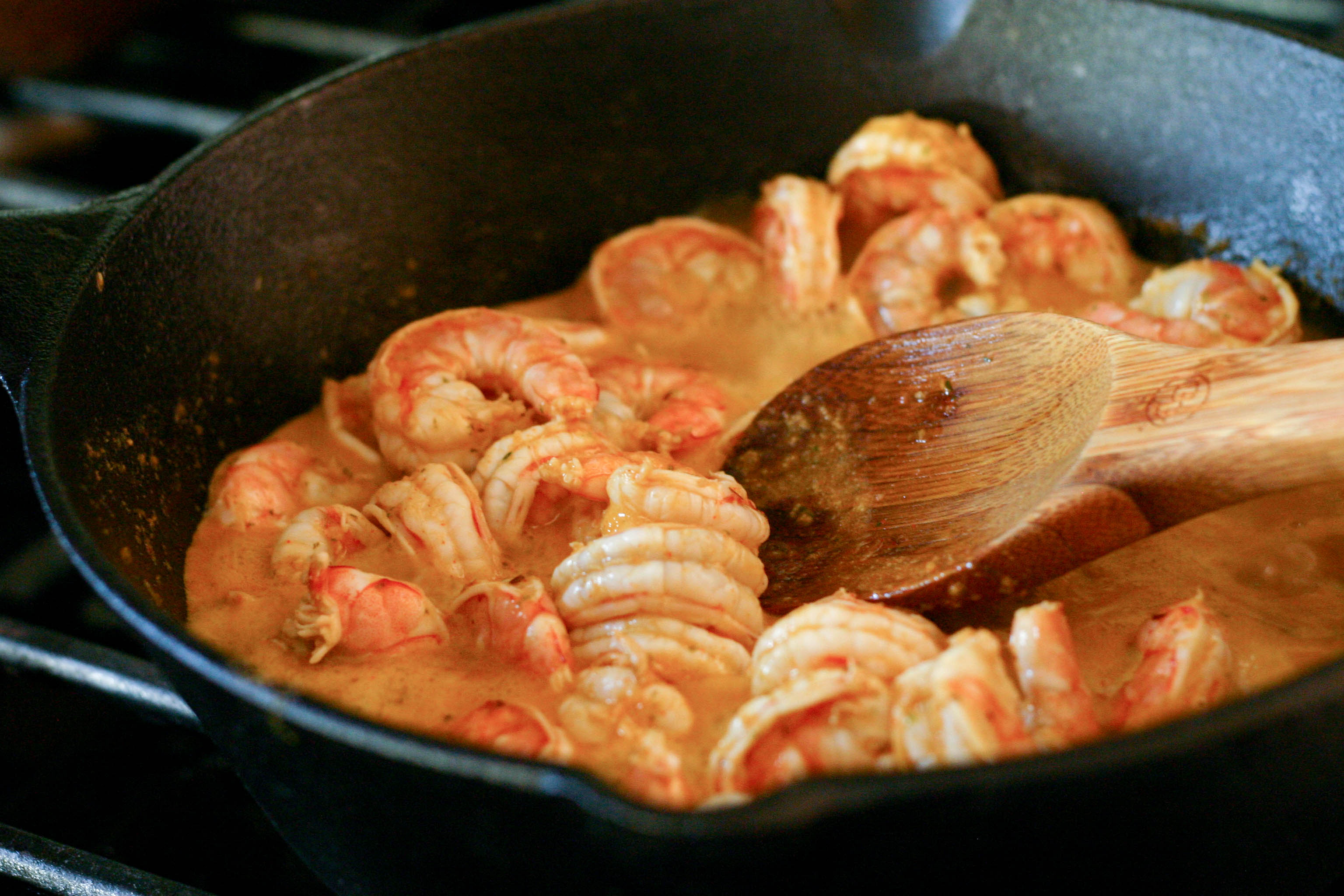 We served the piri piri shrimp over white rice and garnished it with ...