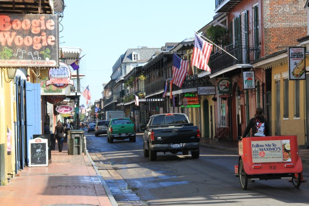 bourbon street by day