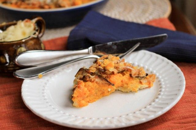 Mushroom and squash tart