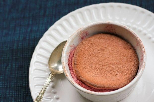 raspberry souffle ramekin