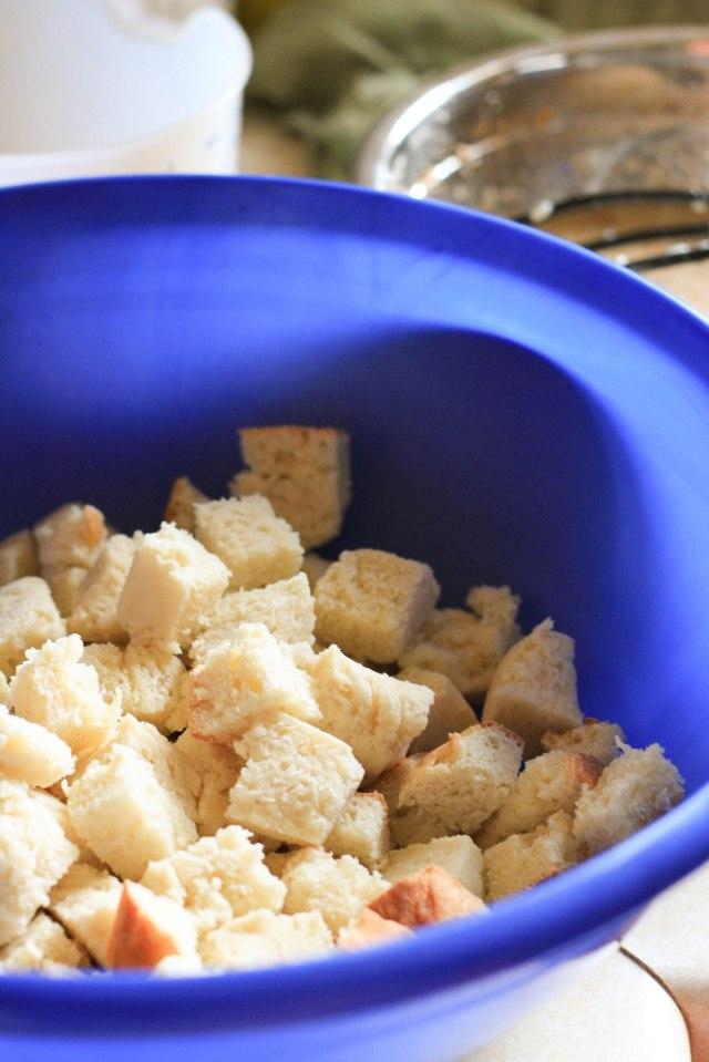 kefir bread cubes
