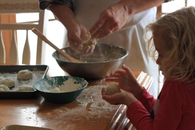 Rolling dumplings