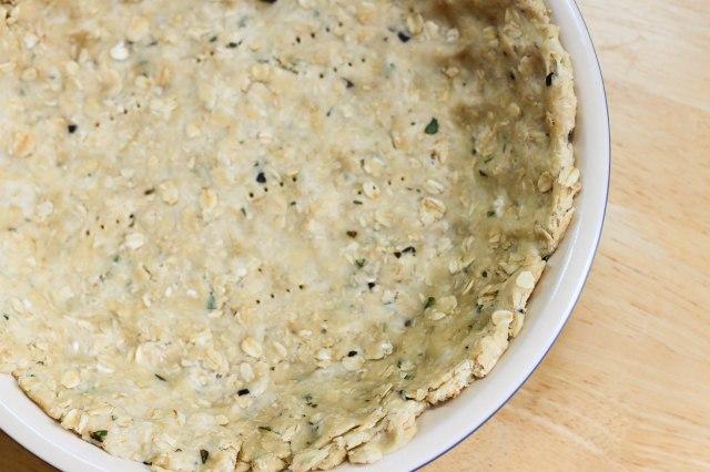 oat flour quiche dough