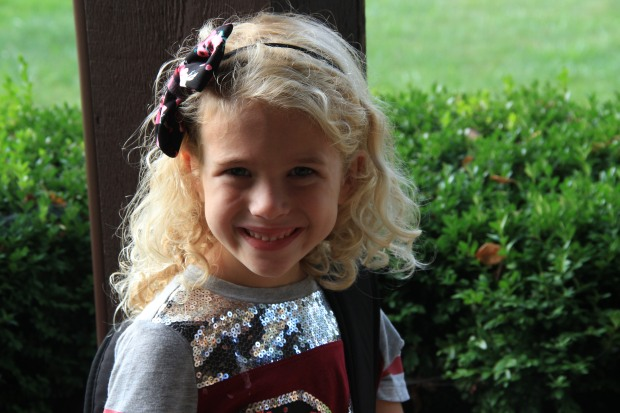 Miss A's first day of 1st grade.