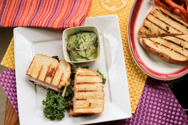 Grilled cheese and kale sandwich