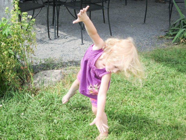Cartwheels only need a small amount of grass.