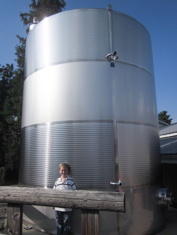 That's one big tank at Swedish Hill Vineyard & Winery on Cayuga Lake in New York.