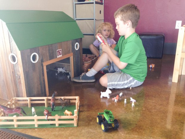 Some wineries have designated kid play places!