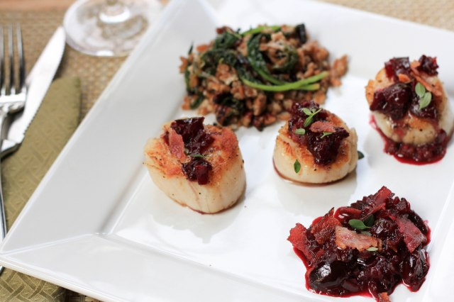 cherries and scallops