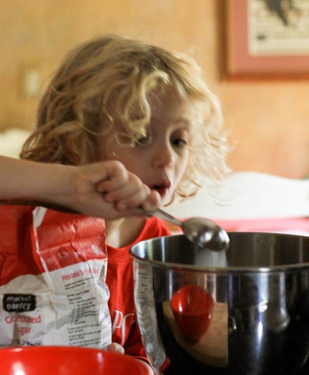 mixing sugar