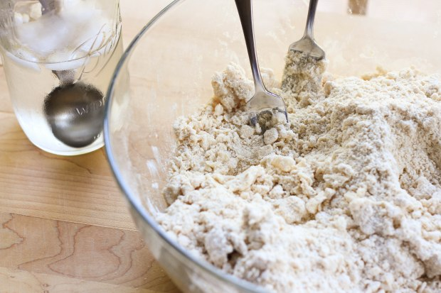 water to dough